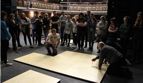 Harlequin runs floors seminar for RADA technical students