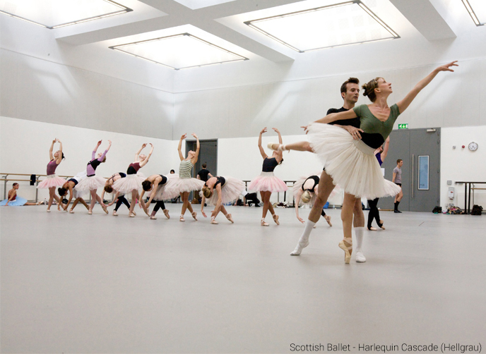 Harlequin Cascade - Scottish Ballet