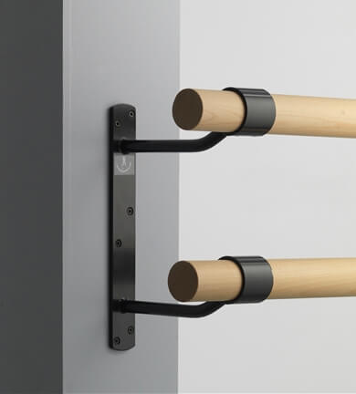 Doppelte Ballettstangen-Wandhalterung, rechteckig
