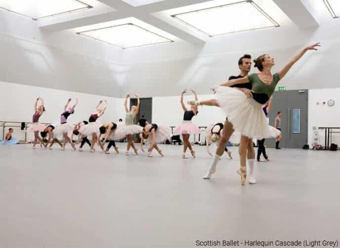Harlequin cascade Scottish Ballet