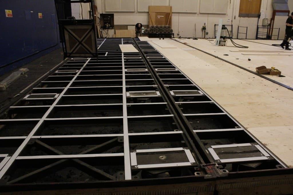 Ballet wagon Harlequin Satge building sprung floor dance