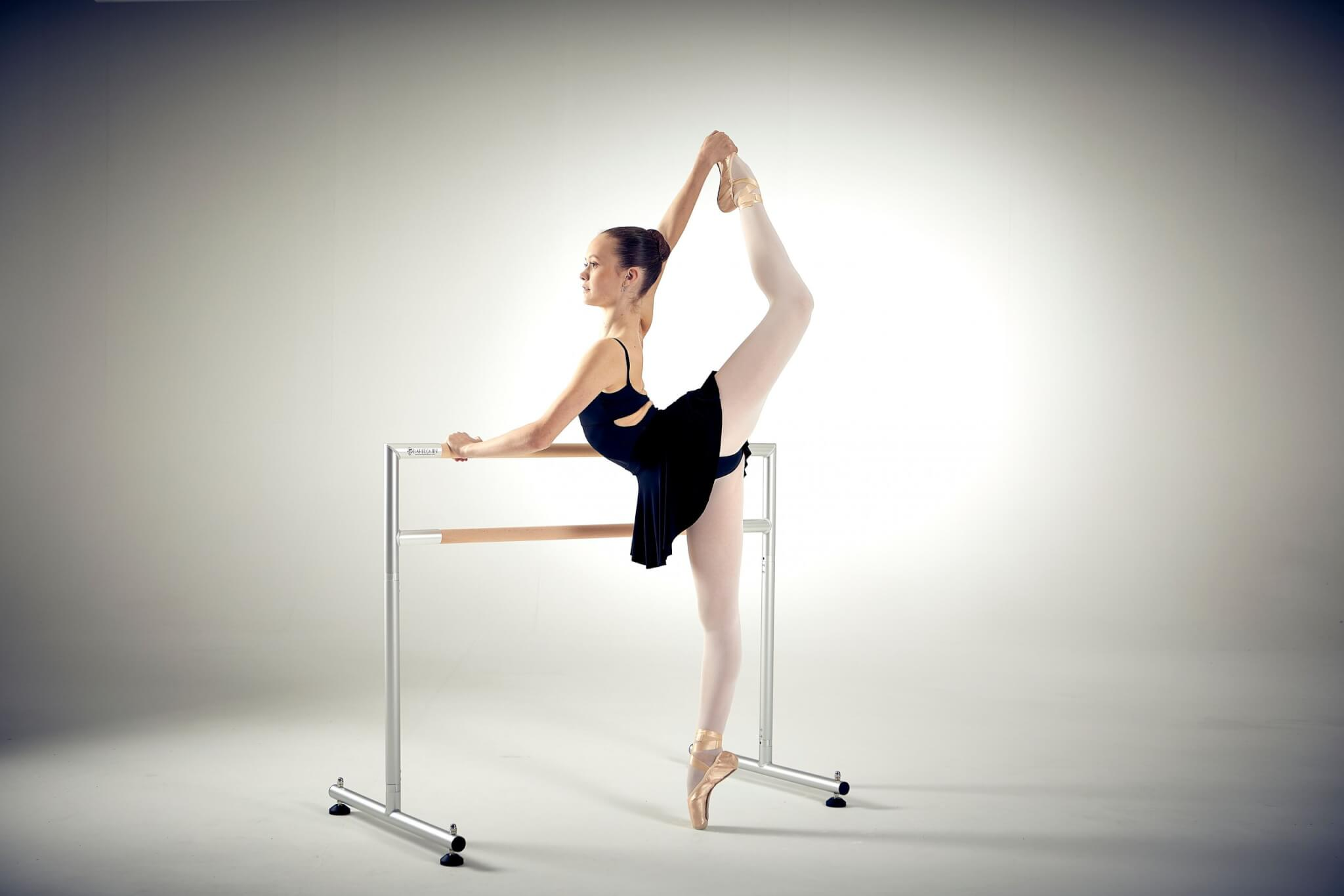 Small Freestanding Harlequin Ballet Barre with Dancer